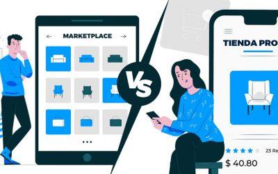 Diferencias entre tener una tienda propia vs. un marketplace